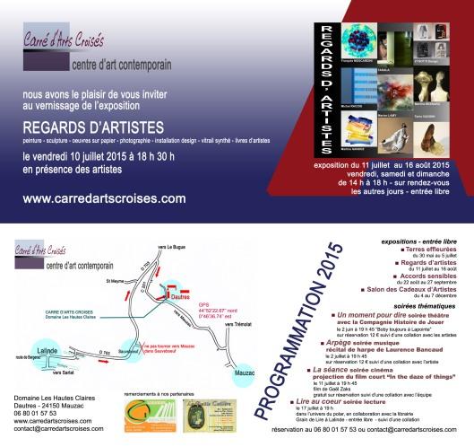 """invitation au vernissage des """"lampes d'Artistes"""""""